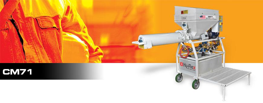 cm71 fireproofing mixer