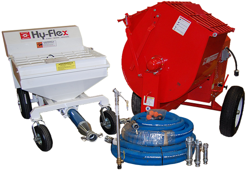 Fireproofing pump, mixer and sprayer bundle